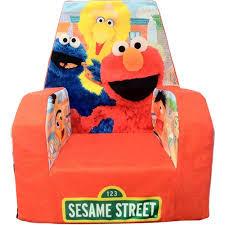 Elmo Sofa Chair Marshmallow Fun Furniture High Back Chair Sesame Street Walmart Com