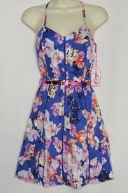 womens 0 dress new nwt floral with belt candies fit u0026 flare easter