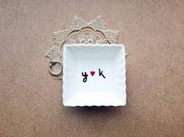engagement ring dish personalized ring dish initials ring dish ring display