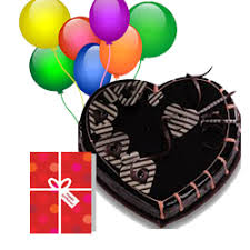cake and balloon delivery online 15 birthday heart shape cake and balloons and card combo