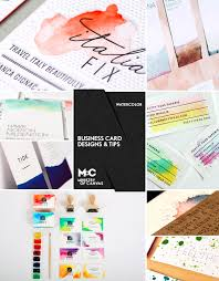 Design Your Own Business Cards Diy Watercolor Business Cards Gallery Plus Quick Tips On Making