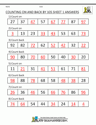 number square worksheets maths for year 1 free second grade math