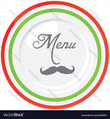 funny italian restaurant menu design template vector image