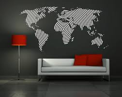 World Map Wall Sticker by Wall Decal Vinyl Sticker Home Decor Modern Art Mural