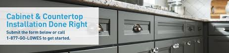 kitchen cabinets with countertops cabinet countertop installation services from lowe s