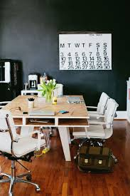 furniture simple and neat home office design with dark two person