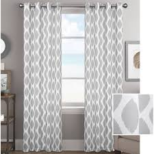 Walmart Velvet Curtains by Better Homes And Gardens Ikat Diamonds Curtain Panel With Grommets