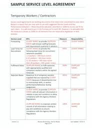 7 best images of customer service level agreement template