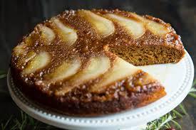 pear spice upside down cake recipe from fatfree vegan kitchen