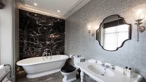 black and silver bathroom