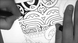marquesan tattoo design drawing a calf forearm tattoo by tattoo