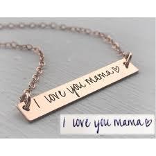 custom handwriting necklace custom handwriting jewelry your handwriting necklace