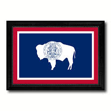 wyoming state flag home decor office wall art livingroom interior