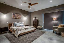 Bedrooms Lights Modern Master Bedroom With Ceiling Fan By Classic Homes