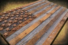 barnwood american flag 100 year old wood one of a kind 3d