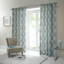 Living Room Curtains On Ebay Cottage Tree Design Duck Egg Eyelet Top Fully Lined Ready Made