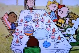 thanksgiving with peanuts and friends the meandering mind