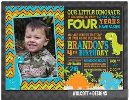 template stylish dinosaur birthday invitations wording with