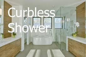 curbless shower trend in bathroom remodeling