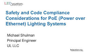 power over ethernet lighting safety and code compliance considerations for poe lighting