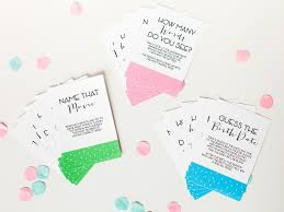 Decorating For A Baby Shower On A Budget Baby Shower Games And Printable Game Cards Diy