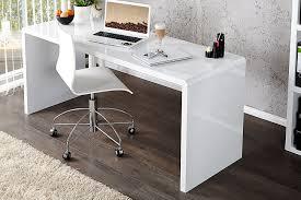 bureau blanc laqué brillant touch bureau informatique contemporain blanc brillant l 138 cm