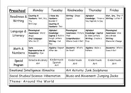vpk lesson plan format preschool plans objectives sample lesson