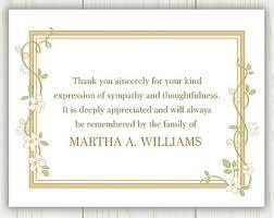 thank you for sympathy card thank you sympathy etsy