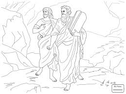 coloring pages for kids stone tablets ten commandments