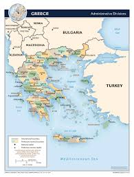 Greece Map Europe by Large Scale Administrative Divisions Map Of Greece 2010 Greece