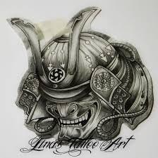 hannya mask samurai tattoo samurai mask and flowers tattoo design