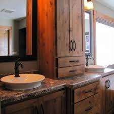 Antique Bathroom Vanity Ideas Simple Unfinished Plexwood Rustic Bathroom Vanities With Drawers