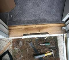 diy exterior door the home of diy how to install repairexterior door threshold sill