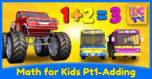 learn math kids adding monster trucks buy bamazoo