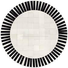 5ft Round Rug by Custom Patchwork Round Cowhide Rug Sun Black White 32590