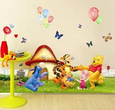 desain kamar winnie the pooh winnie pooh kartun hewan anak anak dilepas stiker dinding float
