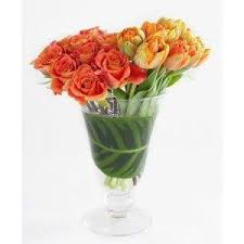 Flowers Delivered With Vase Best Tulips Nyc Delivery Flowers By Artisan Florist Gabriela