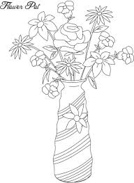 flower pot coloring page best pages best of printable glum me