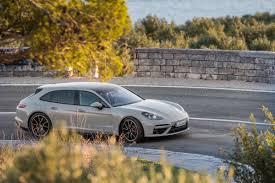 porsche driveway 2018 porsche panamera turbo sport turismo first drive rending