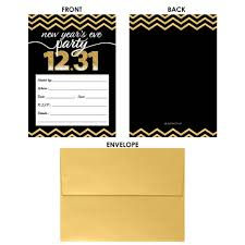 Invitation Cards Party New Year U0027s Eve Party Invitation Cards With Envelopes Black