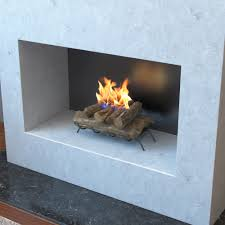 18 inch convert to ethanol fireplace log set with burner insert