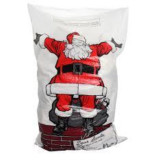 4 x large plastic christmas santa sack stocking bag gift presents