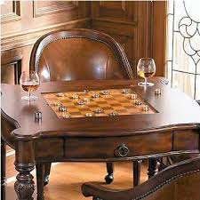 Chess Table And Chairs Freeman Game Table And Leather Chairs Be Sportier