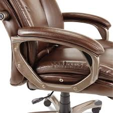 High Back Leather Armchair Alera Veon Series Ale Vn4159executive High Back Brown Leather