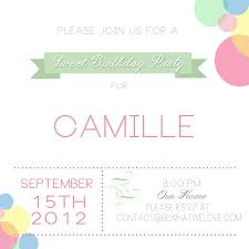 Business Invitation Email Template by Sweet Birthday Party Free Printables Bewhatwelove