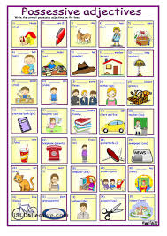 possessive adjectives with key teaching stuff pinterest key