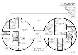 Four Square Floor Plan by Floor Plan Dl 4019 Monolithic Dome Institute