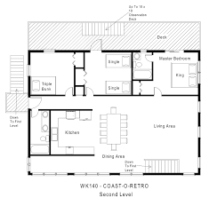 Beach House Open Floor Plans by Oceanside Vacation Rental Coast O Retro