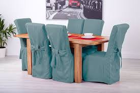 Fabric Dining Chair Covers Set Of 6 Duckegg Fabric Dining Chair Covers For Scroll Top High
