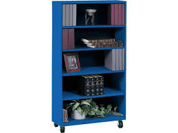 educational edge steel mobile bookcase 36